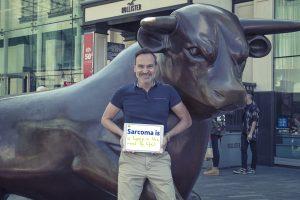 Mark promoting Sarcoma Awareness Week